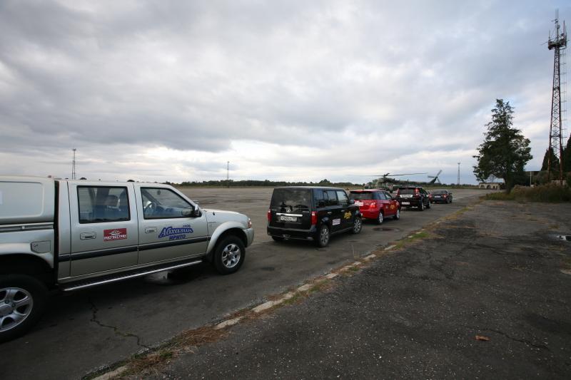 Автомобили ИРИТО в сухумском аэропорту Бабушера