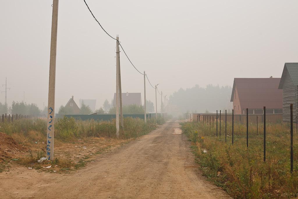 Дым в Подмосковье в 2010
