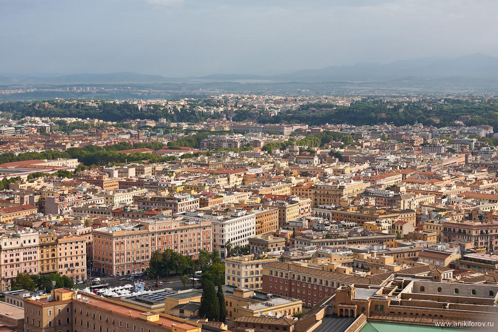 Рим - вид с купола Собора Святого Петра