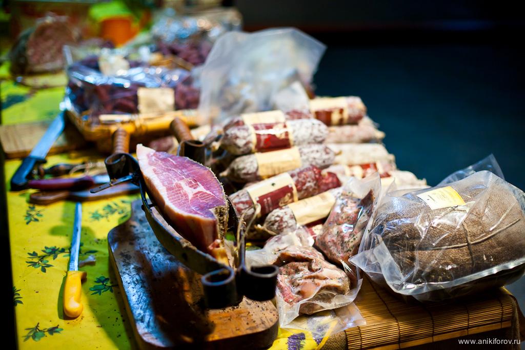 Хамон и колбаса из Испании
