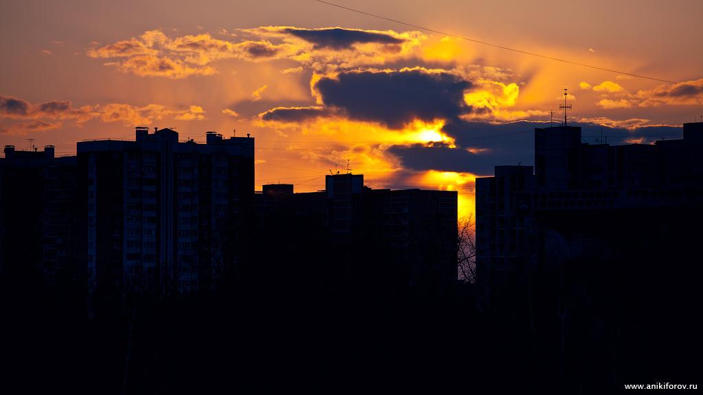Закат в Одинцово