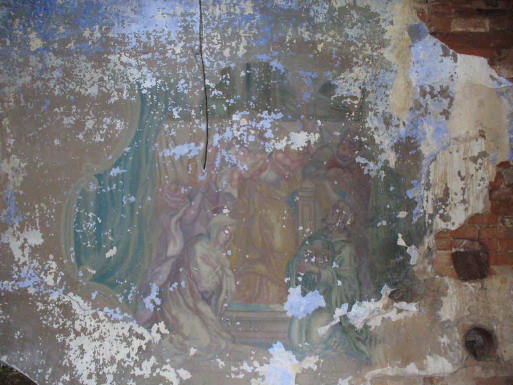 Фреска в трапезной части храма