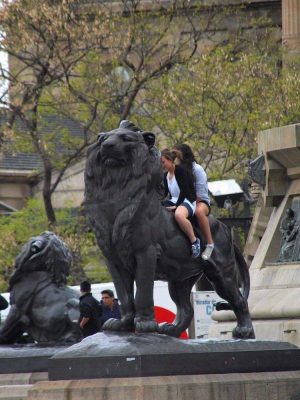 и на львице покататсья...в парке!