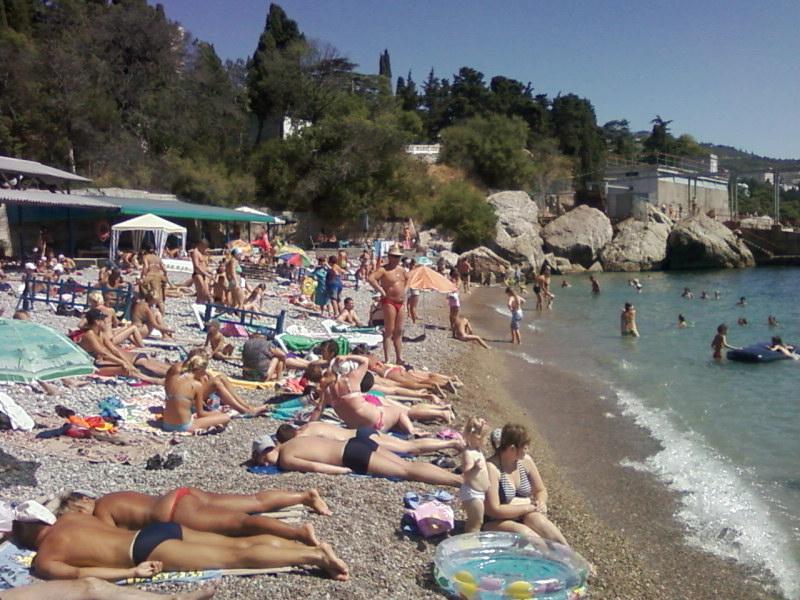 Ялта2009.Пляж
