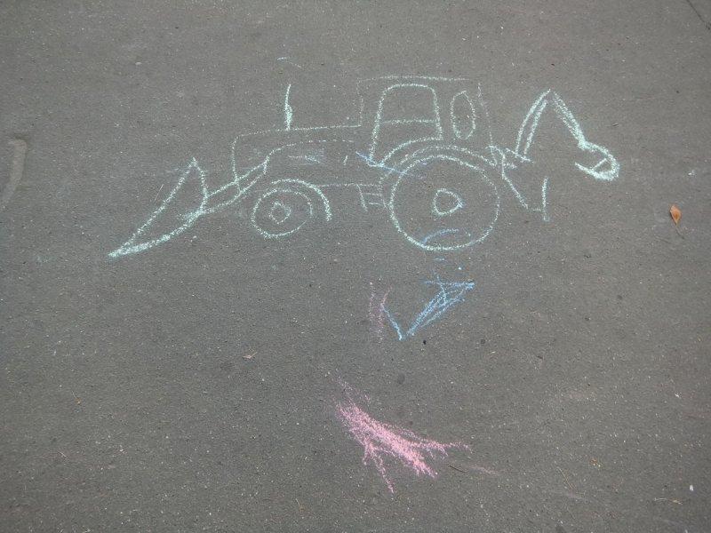 Это рисунок мальчишки