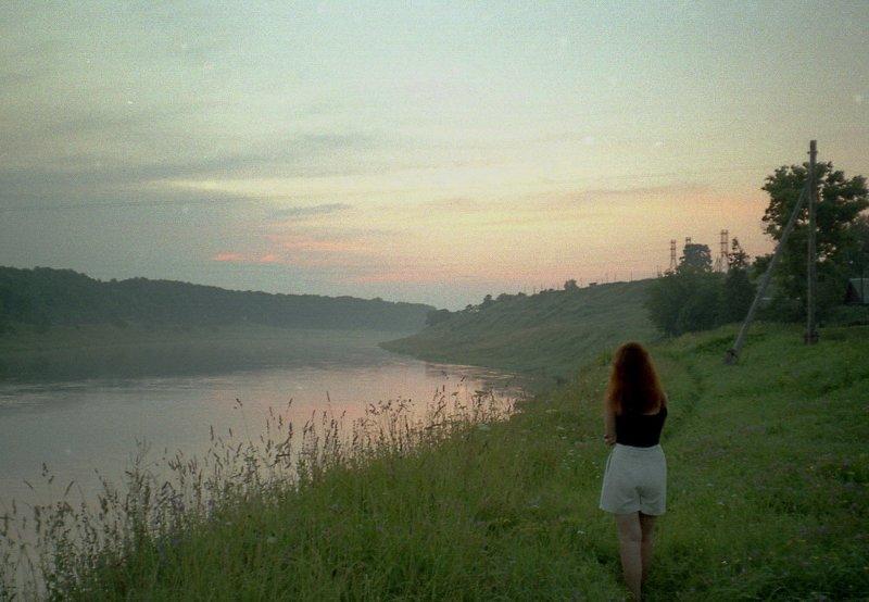 Вечер над рекою