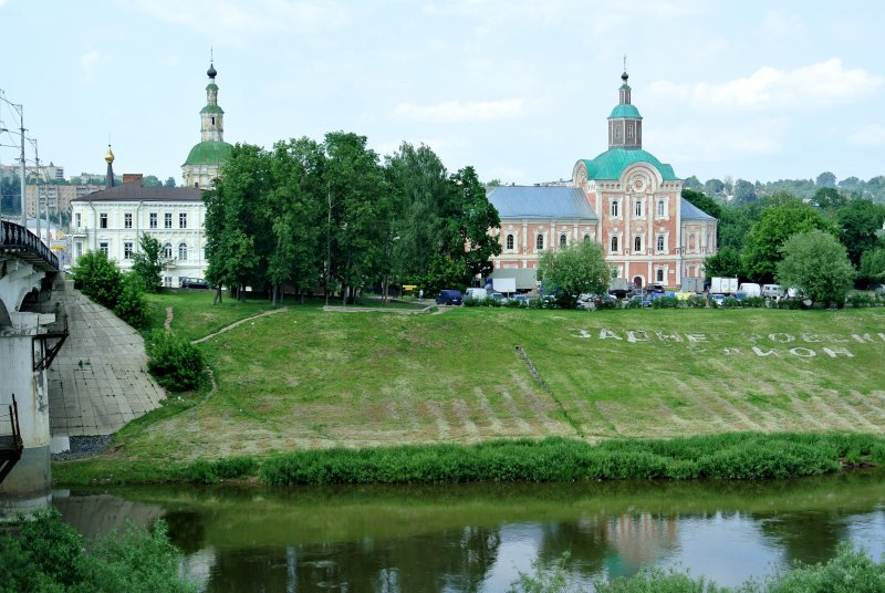 Нижне-Никольская церковь, ее колокольня и купол часовни Николая Чудотворца