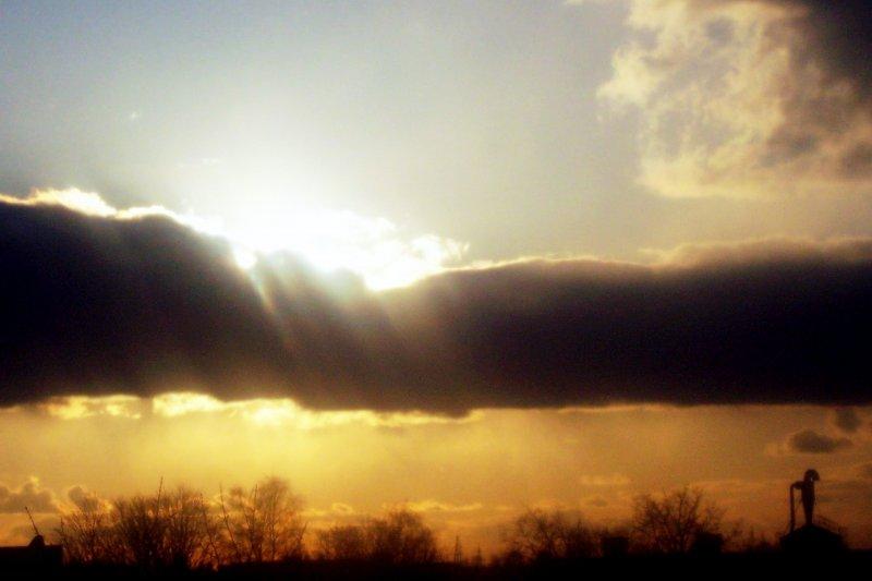 небо.
