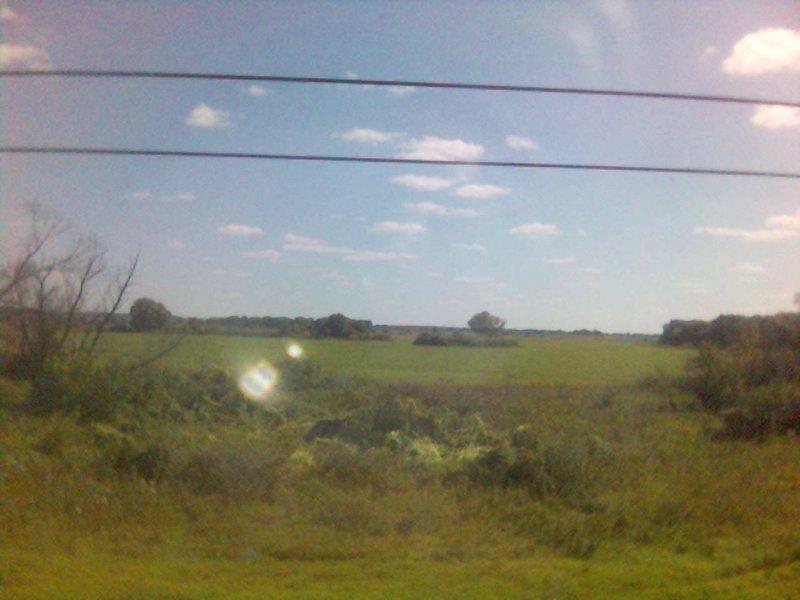 Из окна поезда