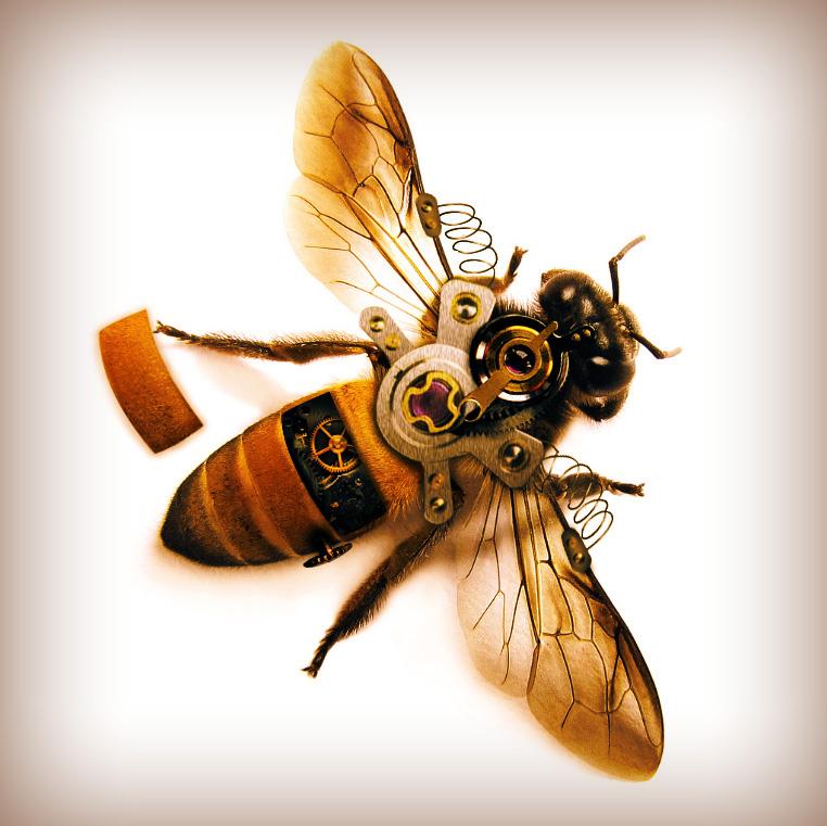 Механическая пчела ...