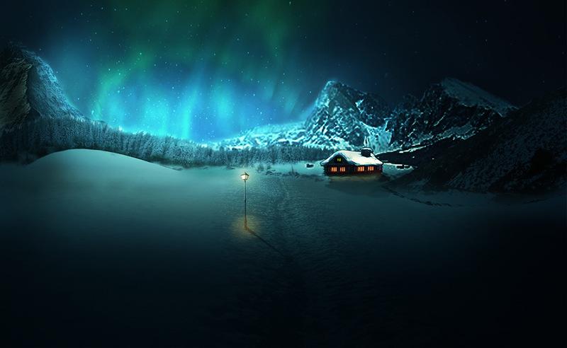 ...ночь в горах ...