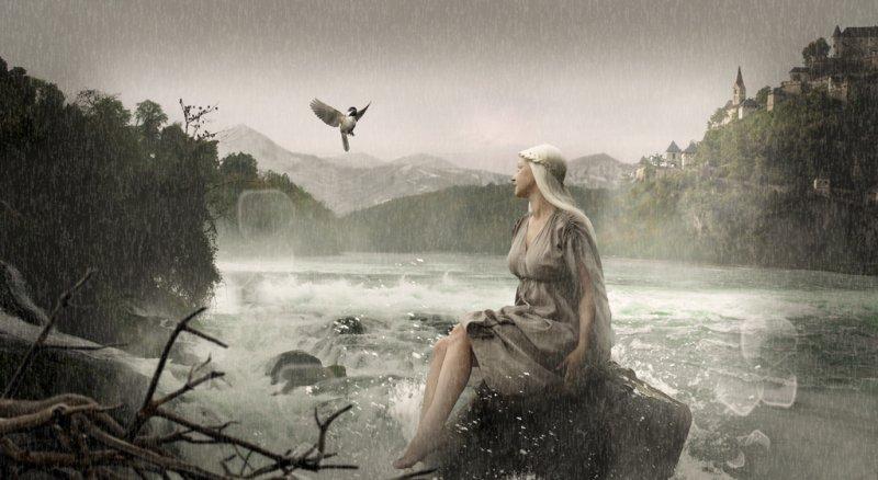 ... ностальгия по теплому летнему дождику ...