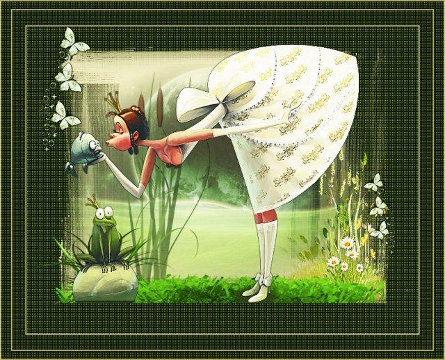 ... принцесса и лягушка ... :)))