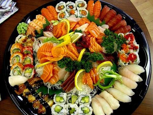 сервировка рыбной тарелки