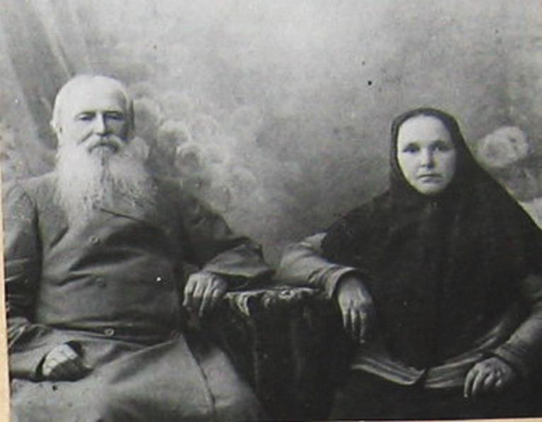 Крестьянин-миллионер-старообряец Шамов с супругой.