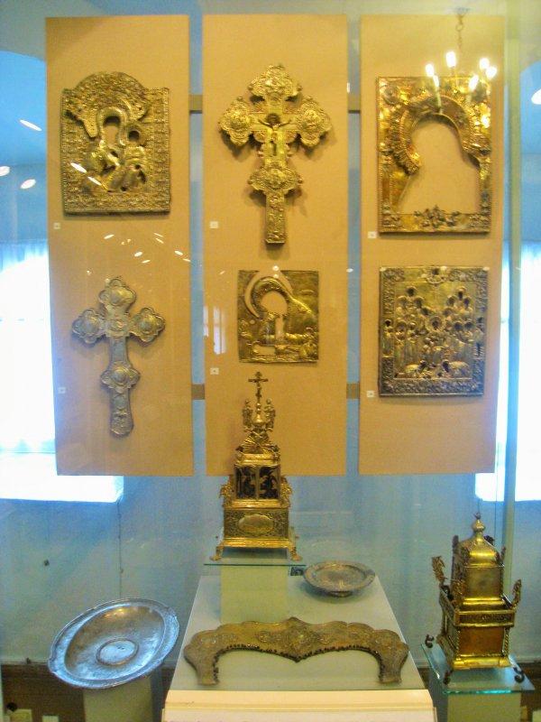 экспозиция старинного серебра в Поганкиных палатах